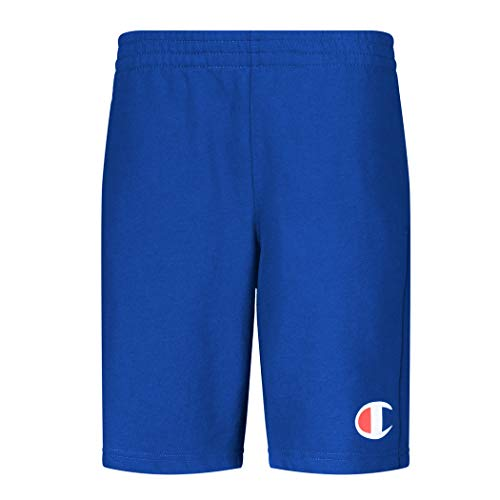 Champion Boys French Terry Short Kids Clothes (Bozetto Blue C, Large)