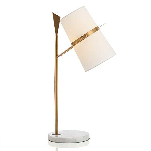 Nordic fer Lampes de table, moderne Minimaliste LED blanche Tissu d'éclairage de base en marbre Bureau lumière décorative Mode Creative Hôtel Bureau Salon Or Lampe de table