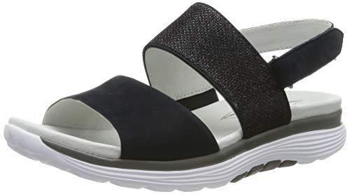 Gabor Shoes Damen Rollingsoft Riemchensandalen, Blau (Nightblue 36), 38.5 EU