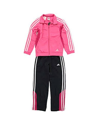 Adidas YK CS KN TS OH trainingspak voor kinderen, roze/wit