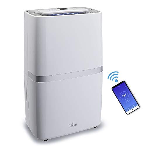 bimar DEU322 Deumidificatore Ambiente casa capacità 20 litri/24h, Compressore con Refrigerante R290, Controllo Funzioni Tramite WiFi, Compatibile con Alexa, Google Assistant Supporta IFTTT, Portatile