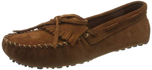 Minnetonka Women's Kilty Driving Moccasin,Brown Ruff,6 M US