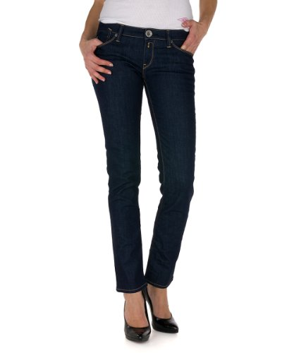 Replay Damen Jeans Niedriger Bund WX521 .000.471 207, Gr. 29/32, Blau (7)