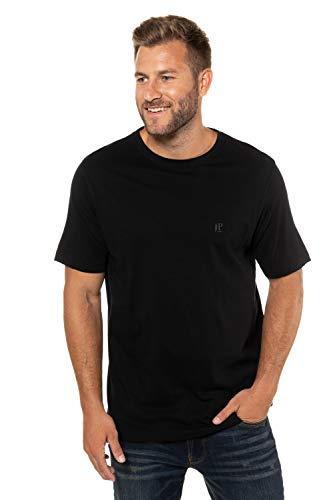 JP 1880 Herren große Größen T-Shirt, 2er Pack, Halbarm, Rundhalsausschnitt schwarz, schwarz 7XL 702637 10-7XL
