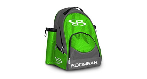 Boombah Tyro Baseball/Softball Bat Backpack - 20' x 15' x 10' - Dark Charcoal/Lime Green - Holds 2 Bats up to Barrel Size of 2-5/8'