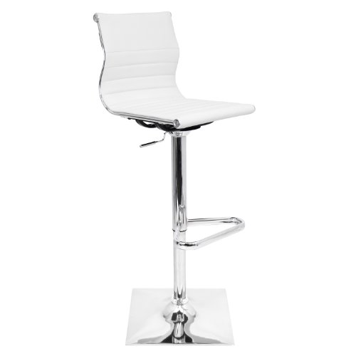 Adjustable 25u0022-32u0022 Barstool White - LumiSource