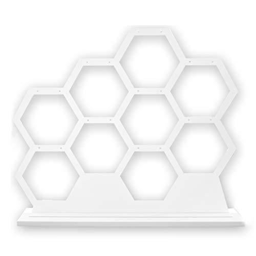 SUCHUANGUANG Pendientes de Madera de Estilo Europeo Pendientes de Oreja Collar Soporte de exhibición de joyería Organizar Soporte de Pendiente Blanco