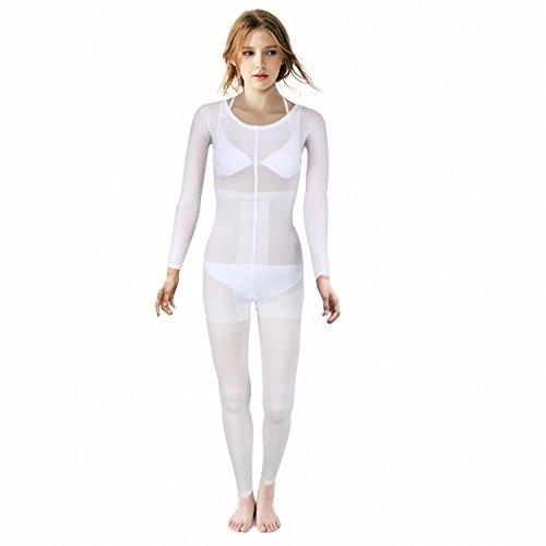 Motana Behandlungsanzug Vakuum Massage Anzug Ganzkörperanzug Stützanzug Strumpfhosenanzug, weiß