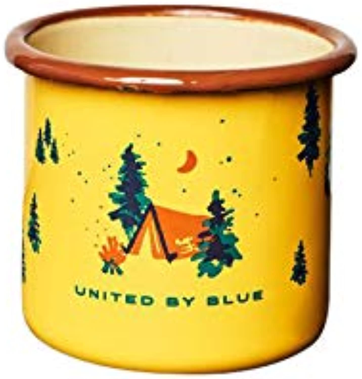 United By blueee  12oz Enamel Steel Mug