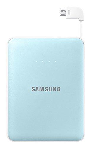 Samsung 8400 mAh Tragbarer Externer Akku Pack Powerbank USB Ladegerät Hochleistung Premium Qualität Wiederaufladbar, blau