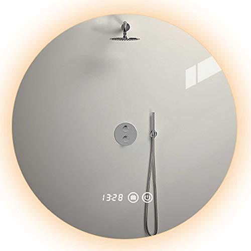 Mirror-Smart LED-Badezimmerspiegel, an der Wand montierter runder Schminkspiegel, hochauflösende Bildgebung, explosionsgeschütztes Entnebeln, Berührungsschalter, Dimmen und Farbanpassung/A / 8