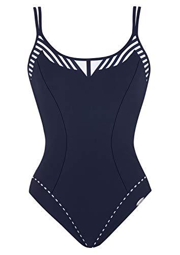 Sunflair Damen Basic Badeanzüge, Nachtblau, 40 (Herstellergröße: 40D)