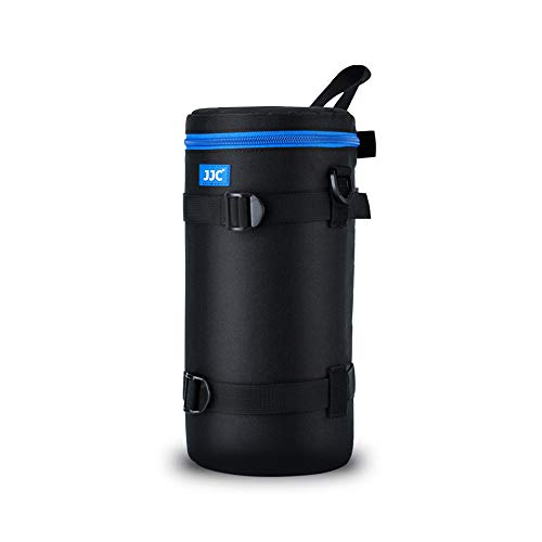 "JJC Camera Lens Pouch Case for Canon RF 800mm Tamron SP 150-600mm Sigma 150-600mm 150-500mm Nikon Nikkor AF-S 200-500mm & More, Zipper Polyester Lens Protective Bag Interior Size 5.67x12.44"""