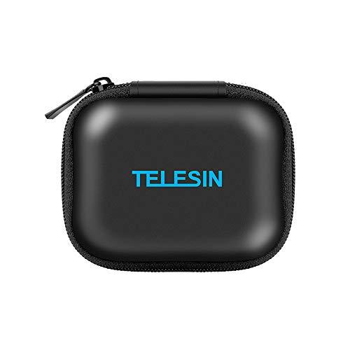 TELESIN Portable - Sacoche de poche - Sac de rangement - Caméra d'action - Boîte de rangement en PU pour GoPro Hero6 / 5/4/3, Série SJCAM Xiaomi Yi, Caméras d'action Polaroid Cube / Cube +, Xiaomi Yi2