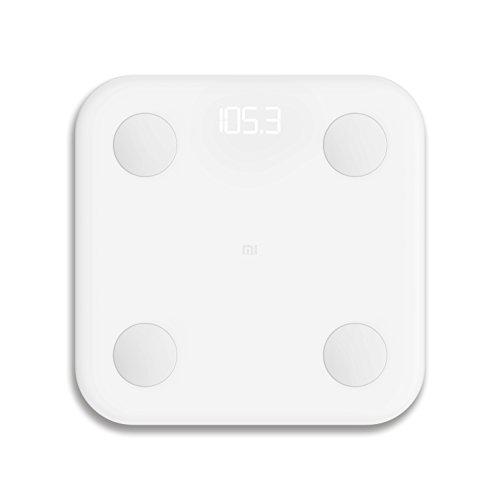 Xiaomi Mi LPN4013GL - Bascula de baño, electrodos de acero inoxidable, blanco