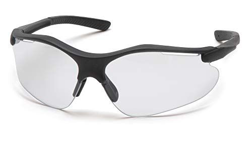 Pyramex Fortress Safety Eyewear, Clear Lens With Black Frame