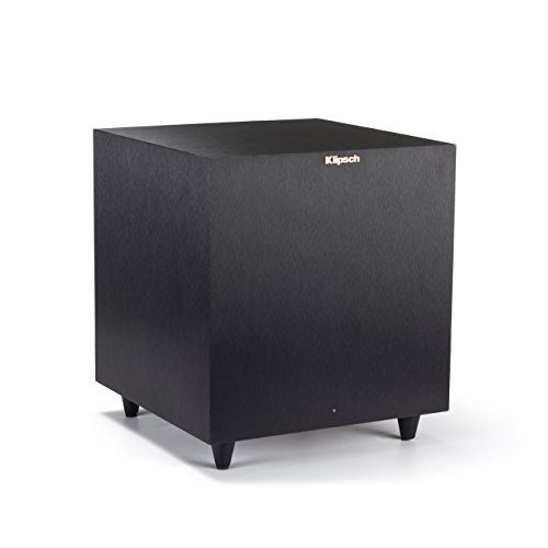 Klipsch Reference R-8SW Surround Subwoofer, 150 Watts Peak Power (Brushed Black Vinyl,...