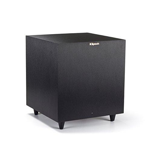 Klipsch Reference R-8SW Surround Subwoofer, 150 Watts Peak Power (Brushed Black Vinyl, 8-Inch)