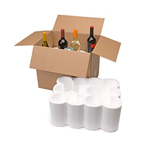 U-Haul Wine 12 Bottle Wine Shipping, Moving & Packing Kit - Includes a 18-1/8 x 13-7/8 x 15-1/2 Box & Styrofoam Inserts