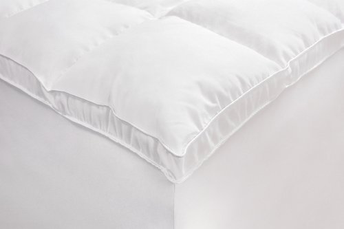 Rio Home Fashions Microfiber Baffled Box Queen Fiberbed with Bed Skirt, White