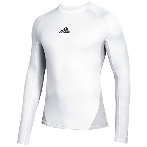 adidas Camiseta de Manga Larga para Hombre Alphaskin Sport Climawarm de fútbol, Hombre, Manga Larga, DP5536, Blanco, XXL