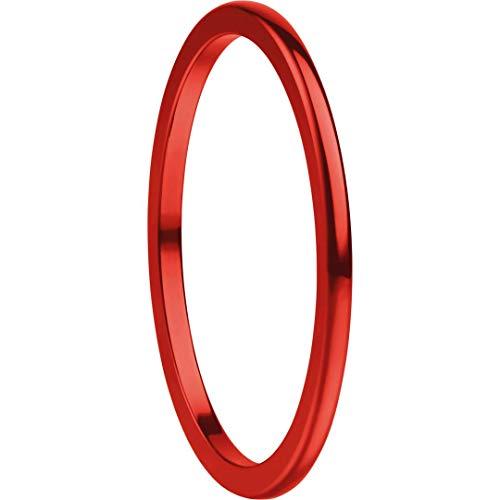 Bering Stapelring Ultra schmal 1,25mm Aluminium poliert rot 564-40-X0, Ringgröße:63 (20.1 mm Ø)