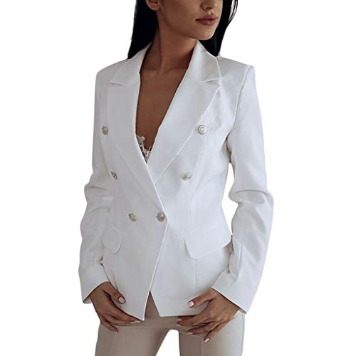 Cheapest Price! Amlaiworld Women Plus Size Blazer Double-Breasted Buttons Long Sleeve Jacket Suit La...