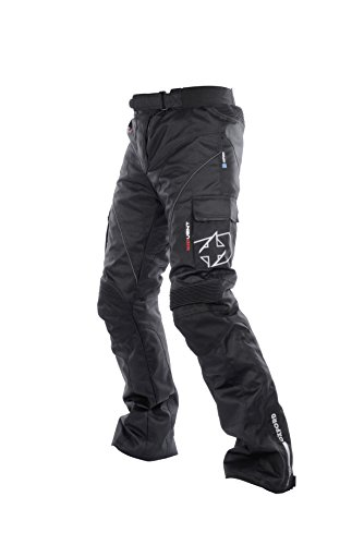 Oxford Products Pantalones de Motorista, Negro, 38