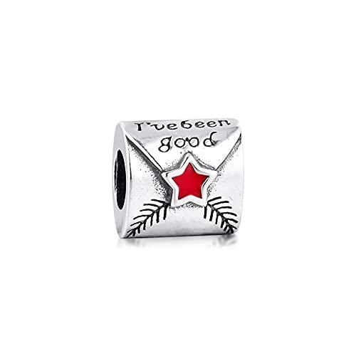 Pandora 925 Colgante de plata esterlina Diy Cuentas reales para hacer joyas Carta a Papá Noel Encantos Adecuado para pulsera Mujer Regalo Kralen