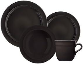 Emile Henry 16-Piece Dinnerware Set, Service for 4, Black