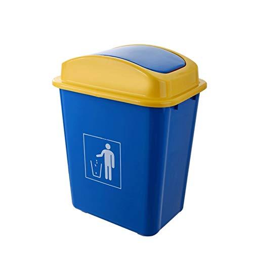 Papeleras Basura de plástico CAN20L, 40L Tapa de Swing Papel de residuos Reciclaje Cocina, hogar, contenedor de Basura de despidos de Oficina (Azul, 40 litros) Cubos de Basura (tamaño : Large)