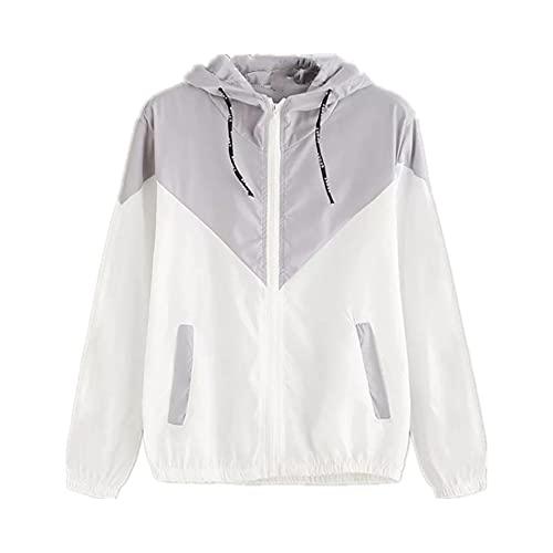 Chaqueta de manga larga con capucha de costura de verano de ocio chaqueta de protección solar