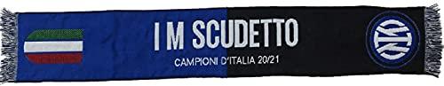 Sciarpa INTER Ufficiale Campioni D Italia 2020-2021 Scudetto Tricolore Nuovo Logo in Acrilico Jacquard SCJINCAMP