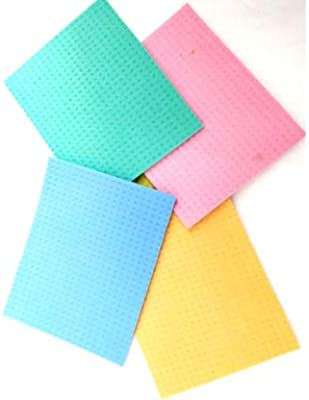 GoodsHolic™ Cellulose Cleaning Sponge Mop, Absorbent Kitchen Towels, (20 x 16 x 0.5 cm, Multicolour & Random Pattern) - Pack of 5 Pieces