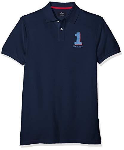 Hackett London New Classic Polo, Azul (Navy 595), X-Small para Hombre