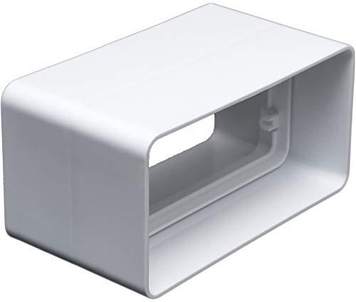 Kanalverbinder für 55 x 110 Flachkanal Lüftungssysteme. Abluftkanal oder Zuluftkanal. Hohe Qualität ABS-Kunststoff (FS55-C)