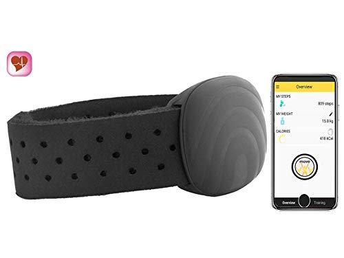 SmartLab Monitor de frecuencia cardíaca Hrm W con Correa de Pecho, Color Negro