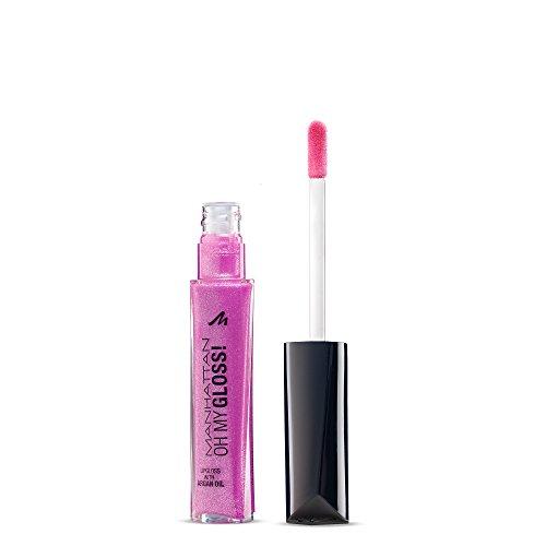 Manhattan Oh My Gloss! Lippenpflege mit frischem Glanz, Feuchtigkeitsspendender Lipgloss, Farbe Glamour Berry 180, 1 x 6,5ml