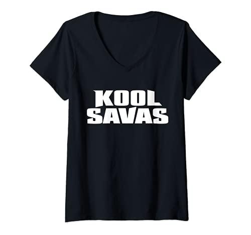 Damen Kool_Savas Rapper Deutschland T-Shirt mit V-Ausschnitt