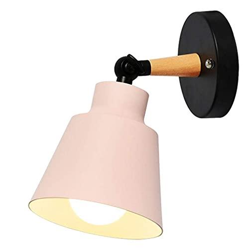GIOAMH Lámpara de pasillo creativa con personalidad minimalista moderna de madera nórdica, lámpara de lectura junto a la cama, decoración de la pared del dormitorio