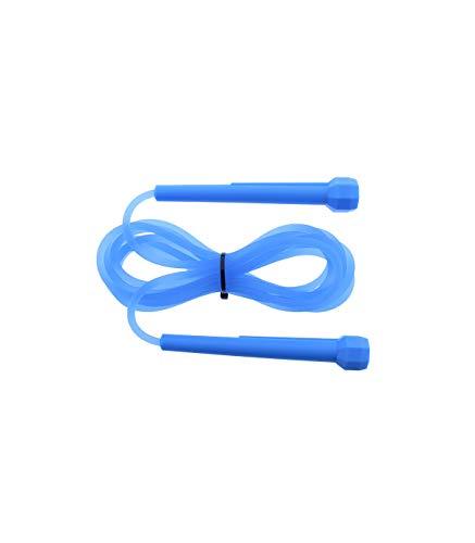 Riscko Comba de PVC Fitness para Crossfit, Gimnasio, Boxeo, Cardio   Cuerda para Saltar de Entrenamiento para Ejercitar El Cuerpo Azul