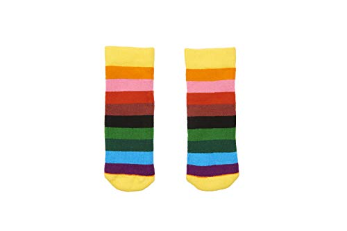 Squelch Socks for Chrildrens Welly Boots - Rain Boot Wellies - Kids Wellingtons (Rainbow Stripes Small, Ages 1-2)