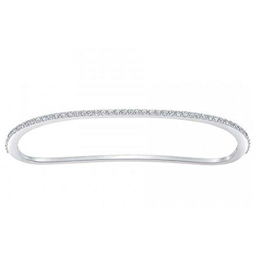 SWAROVSKI Vittore Rhodium Plated White Crystal Palm Cuff Bracelet