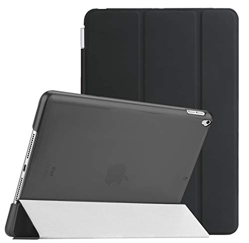 Weuiean Compatible with iPad 7th Generation 10.2 Inch 2019 Case, Dual Separable Leather Cover Folio Stand Shockproof Hard PC Back, Slim Fit Auto Sleep Wake Magnet Cover for A2197 A2198 A2200 - Black