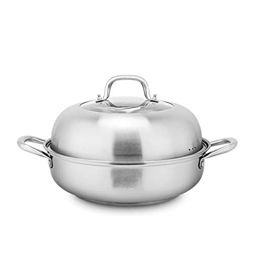 JXLBB Cuisinière à induction Une variété de réchauds Couvercle en verre universel pour cuiseur vapeur en acier inoxydable 304, aliments visibles