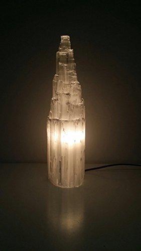 Selenit natürliche Tower / Eisberg Tischlampe - 25 cm Höhe