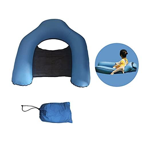 Ysislybin Sofá piscina hinchable, cama flotante, hamaca hinchable, silla de agua, tumbona para camping o playa