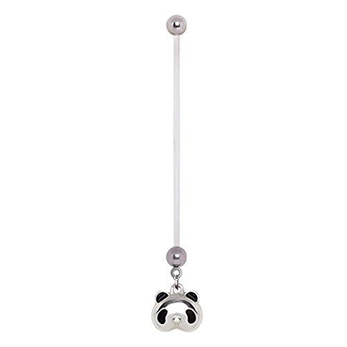 Panda buikband voor de navelpiercing van flexibele PTFE – rekbaar buikpiercing voor zwangere vrouwen en vrouwen