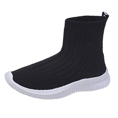 JMAR Zapatillas Deportivas Ligeras para Caminar para Gimnasia, Calcetines Elásticos, Zapatos Deportivos Casuales De Tejido Volador Transpirables, Zapatos Casuales Transpirables para Caminar