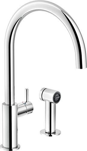 - Grifo monomando de fregadero con alcachofa - Grifo mezclador de cocina con control separado con ducha de 1 chorro - H 375 m